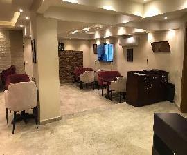 مطعم مجهز ومفروش ومكيف للايجار بدجلة المعادي 450م